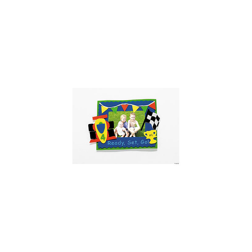 Race Car Picture Frame Magnet Craft Kit - Discontinued