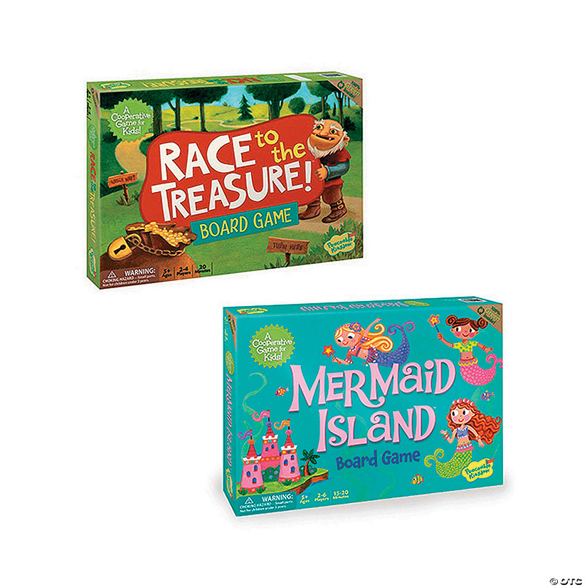 Race To The Treasure and Mermaid Island: Set of 2