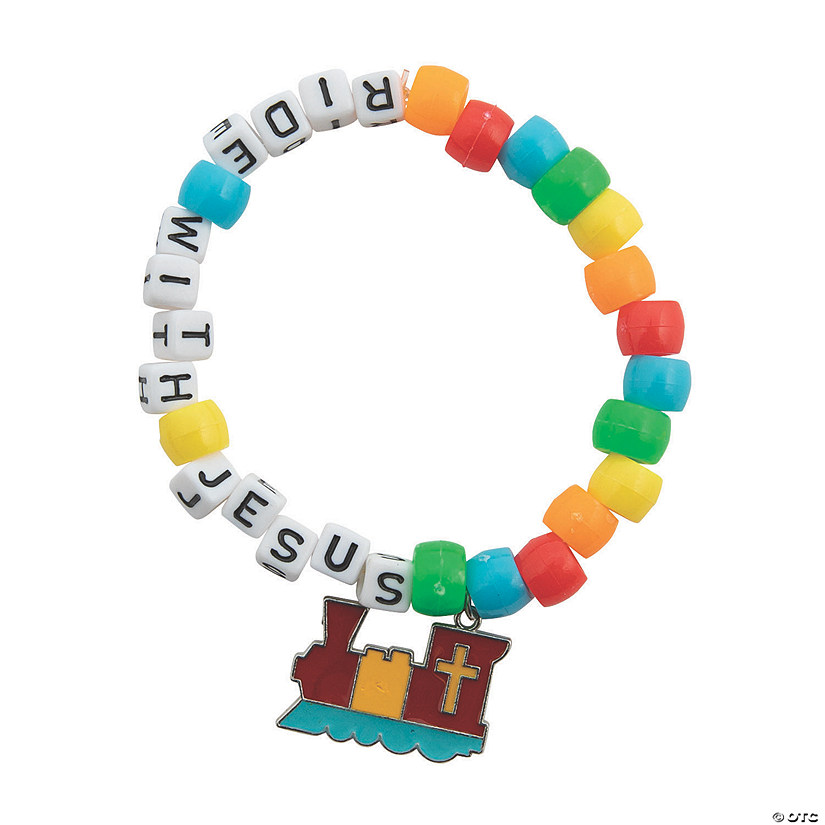 Railroad VBS Beaded Bracelet Craft Kit Image Thumbnail