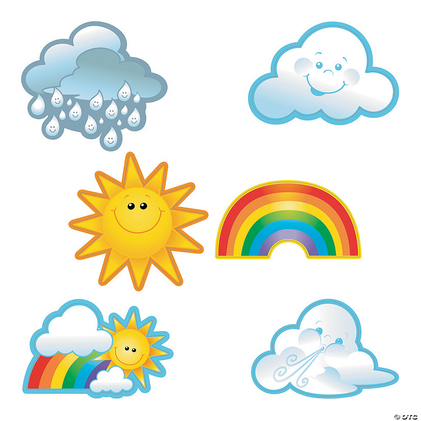 Rainbow & Sunshine Bulletin Board Cutouts
