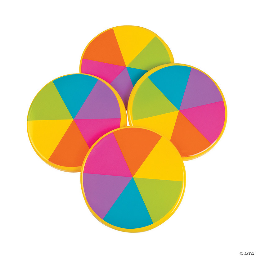 Rainbow Flying Discs