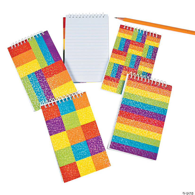 Rainbow Glitter Spiral Notepads Audio Thumbnail