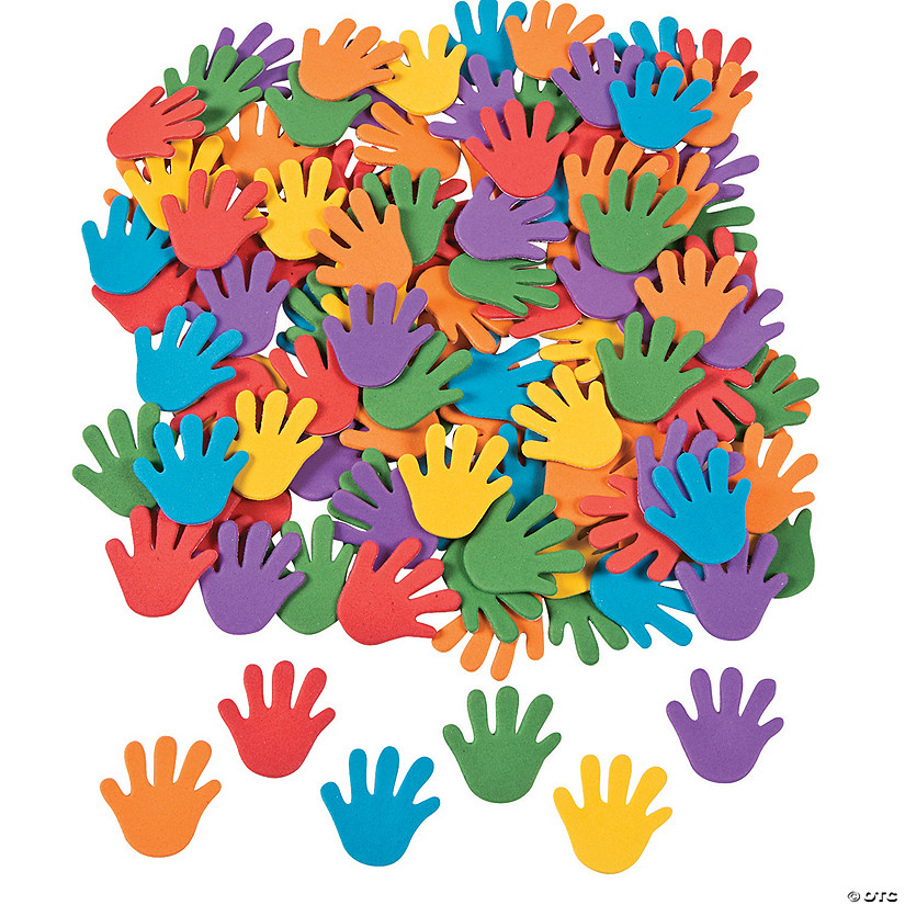 Rainbow Hand Self-Adhesive Shapes