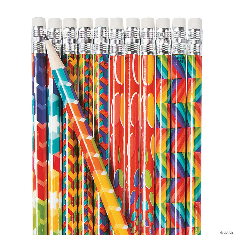 Rainbow Optical Illusions Pencils