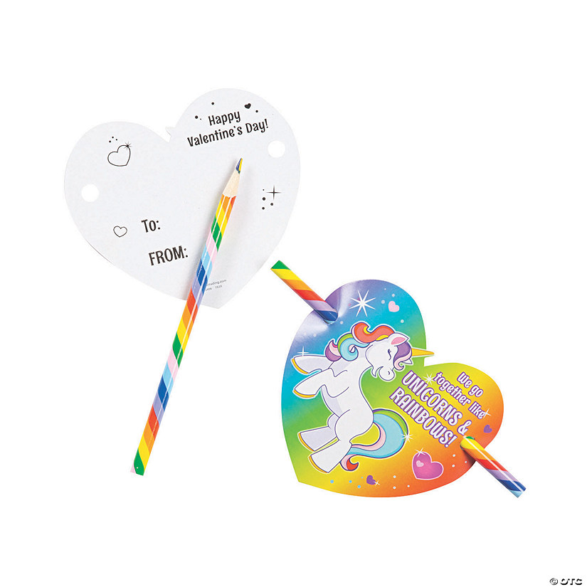 Rainbow Pencils with Unicorn Valentine's Day Cards Audio Thumbnail