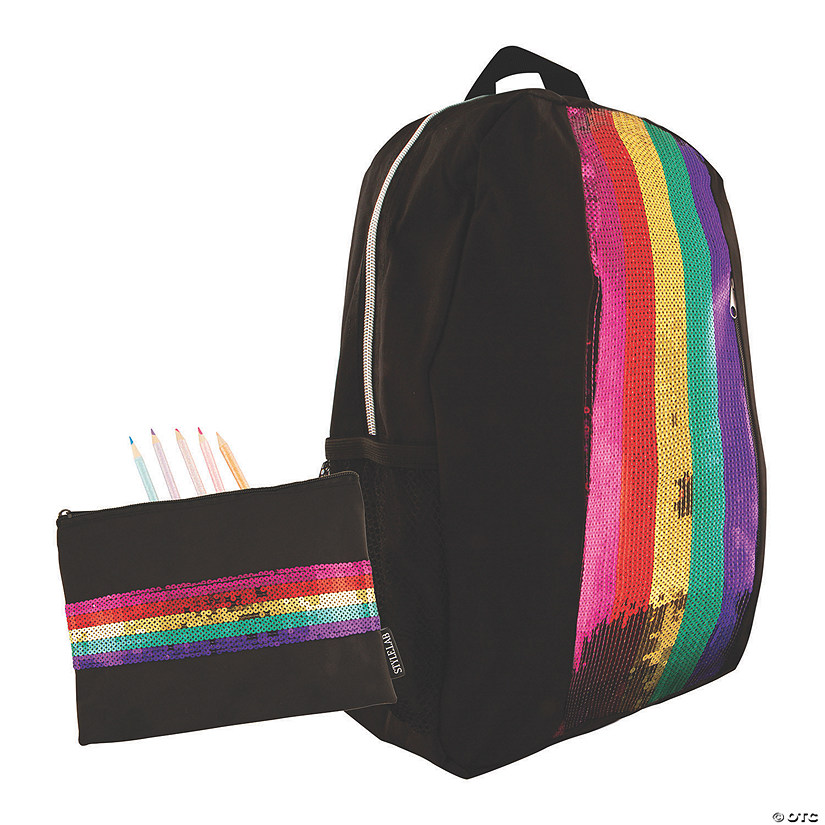 Rainbow Sequin Backpack with BONUS Pouch Image Thumbnail
