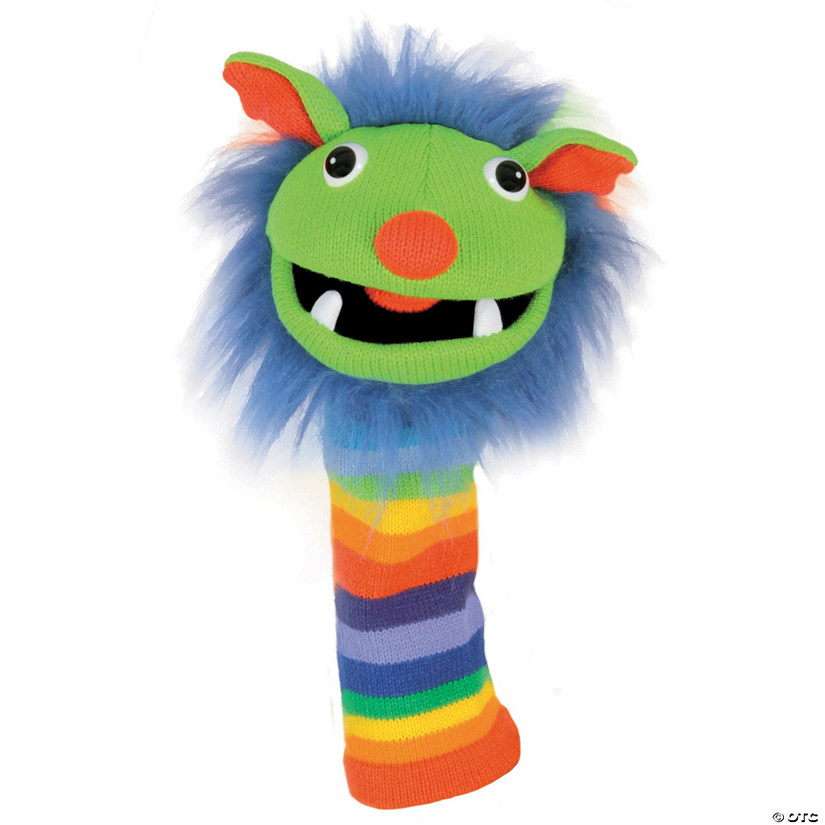 Rainbow Sockette Knitted Puppet
