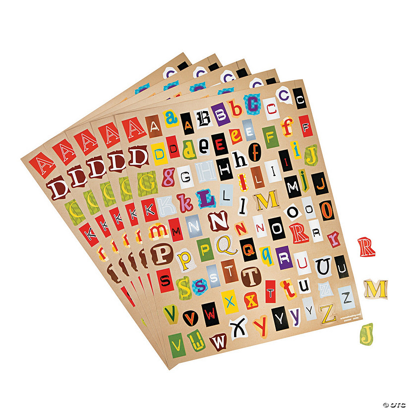 Ransom Note Alphabet Stickers Audio Thumbnail