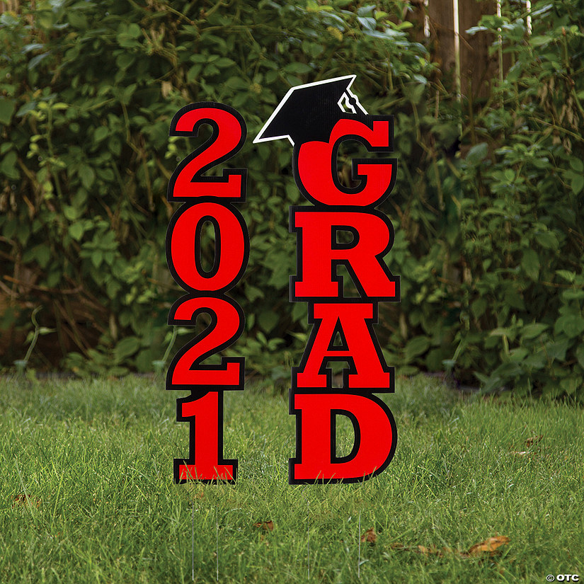 Red 2021 Grad Yard Signs Image Thumbnail