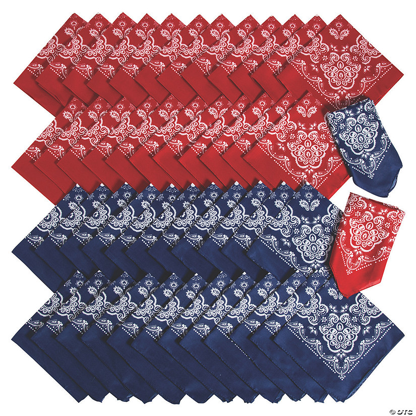 Red & Blue Bandana Assortment Image Thumbnail