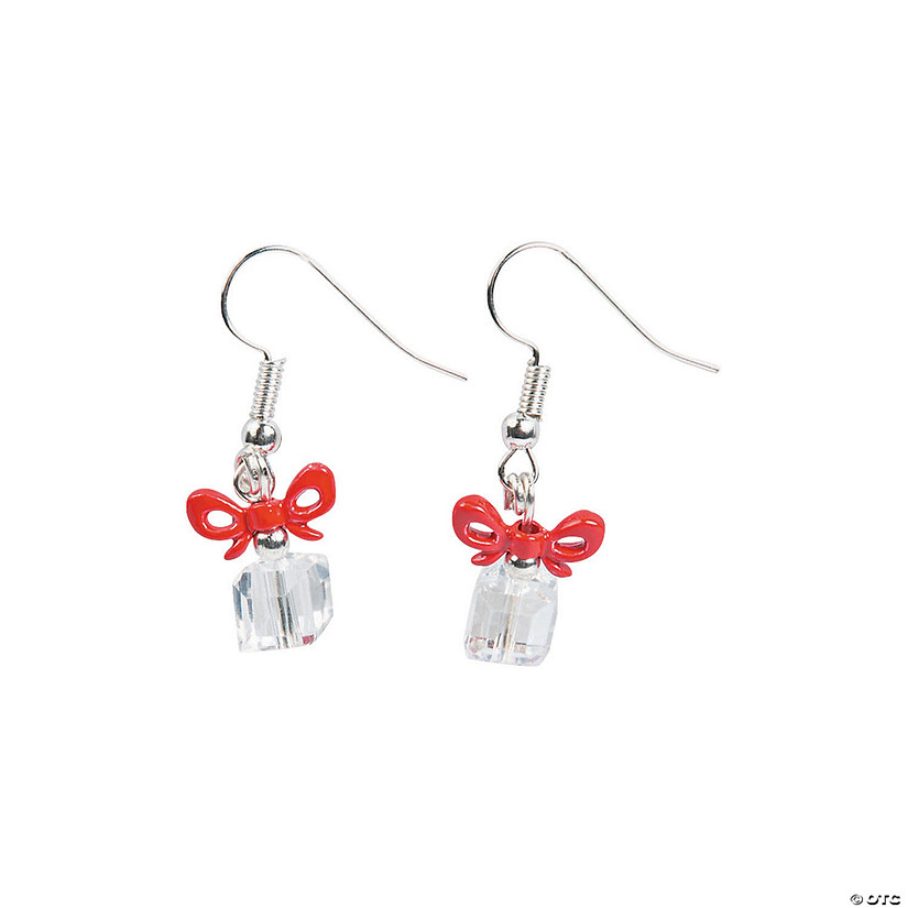 Red & Clear Christmas Earrings Craft Kit