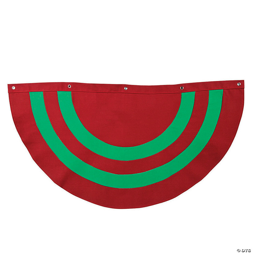 Red & Green Striped Christmas Bunting