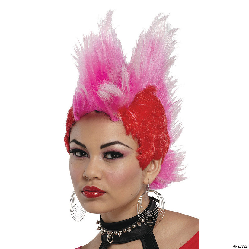Red & Hot Pink Double Mohawk Wig Audio Thumbnail