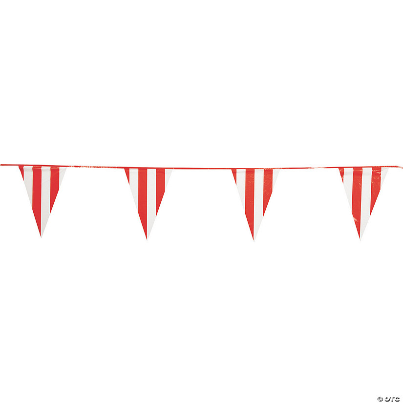 Red & White Plastic Pennant Banner Audio Thumbnail