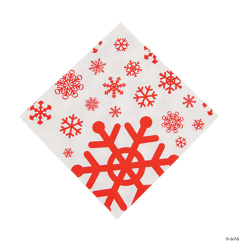 Red & White Snowflake Luncheon Napkins Audio Thumbnail