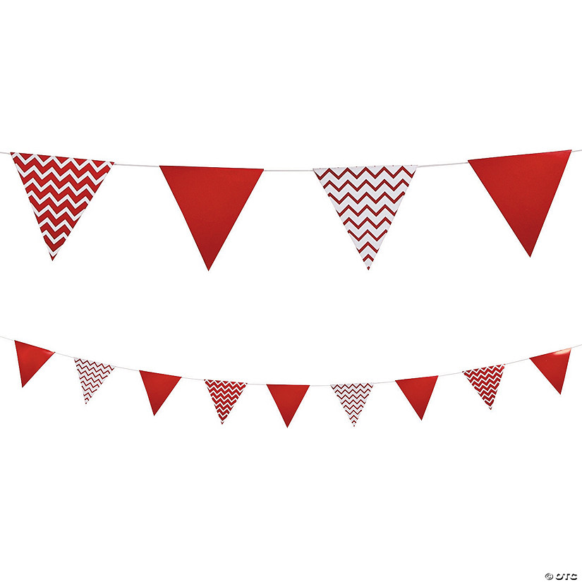Red Chevron Cardboard Pennant Banner Audio Thumbnail