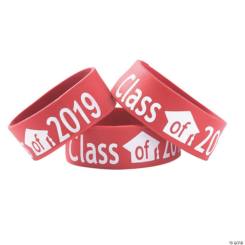 Red Class of 2019 Big Band Bracelets
