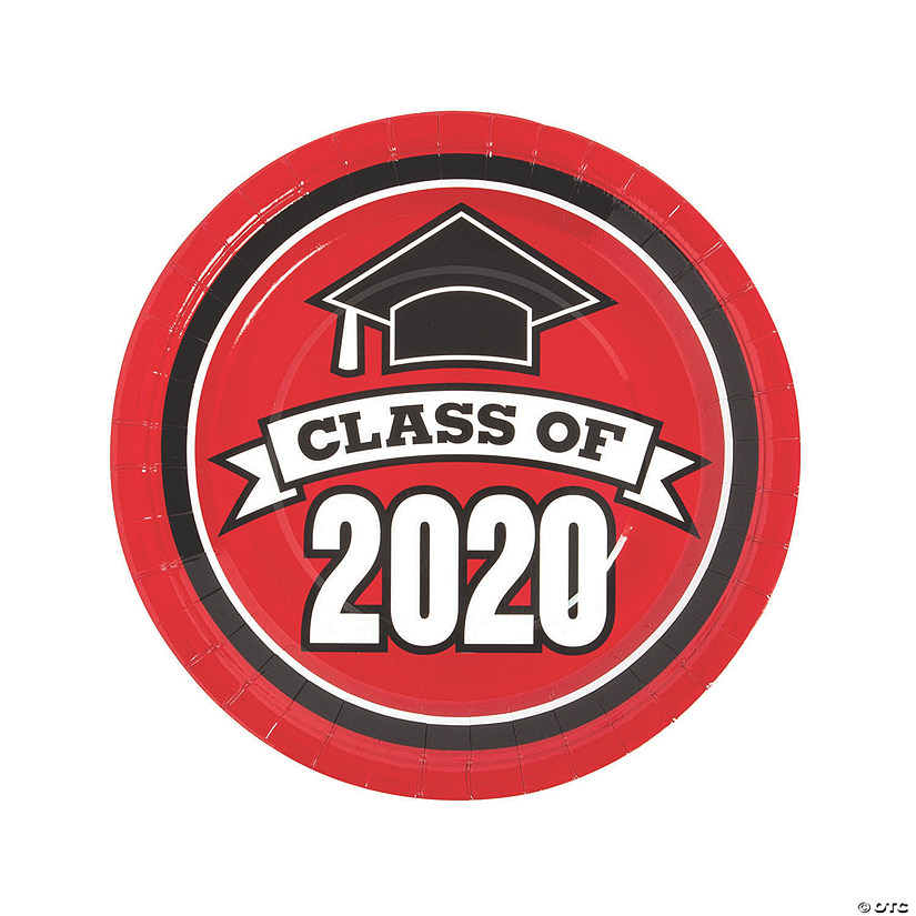 Red Class of 2020 Paper Dinner Plates - 25 Ct. Audio Thumbnail