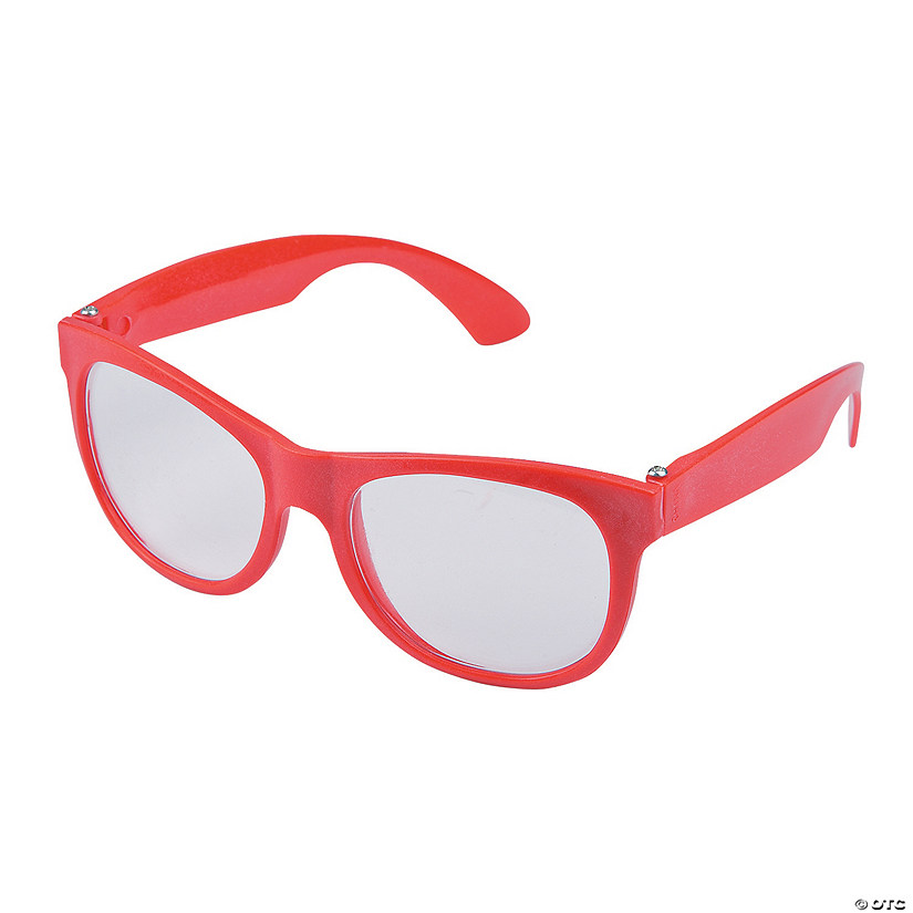 Red Clear Lens Glasses - 12 Pc. Audio Thumbnail