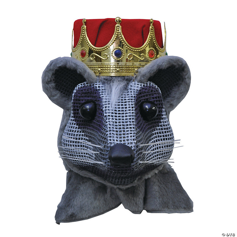 Red Crown Mouse King Head Mask