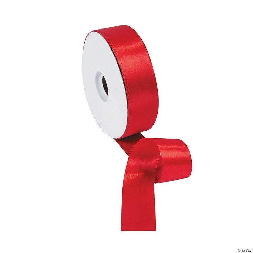 Red Double Faced Satin Ribbon - 1 1/2""