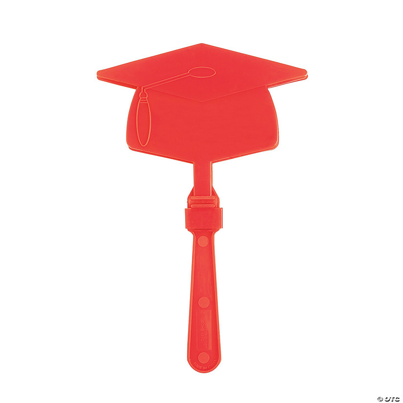 Red Graduation Mortarboard Clappers