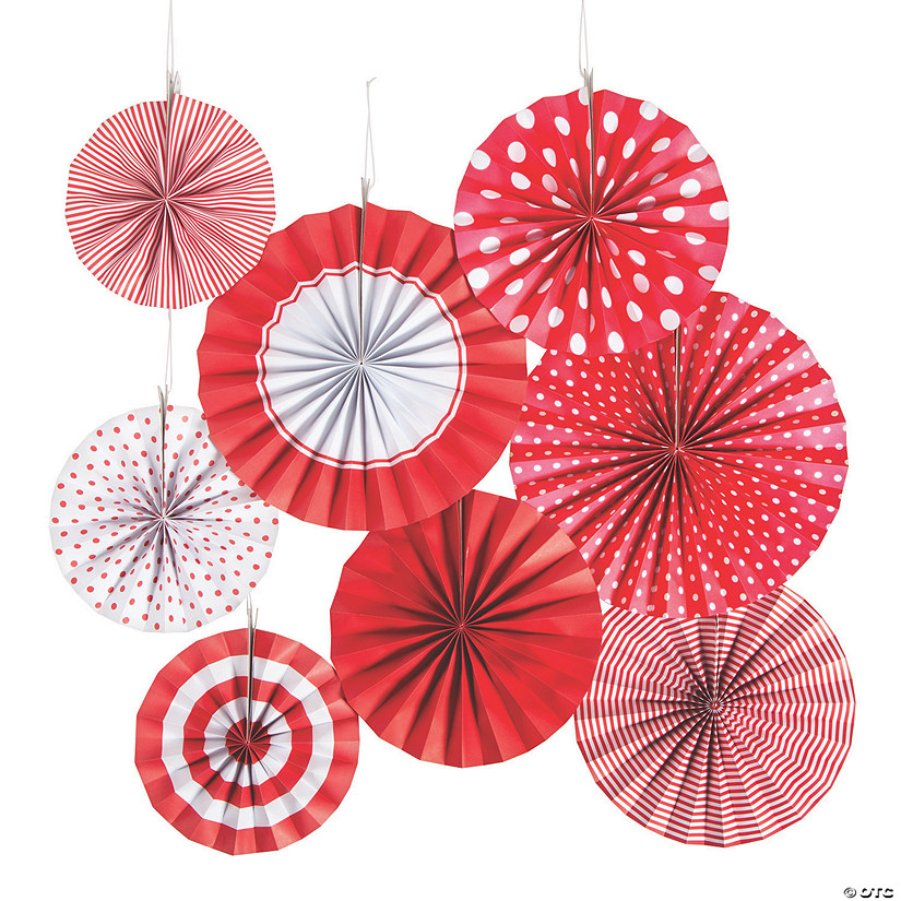 Red Hanging Paper Fan Assortment Audio Thumbnail