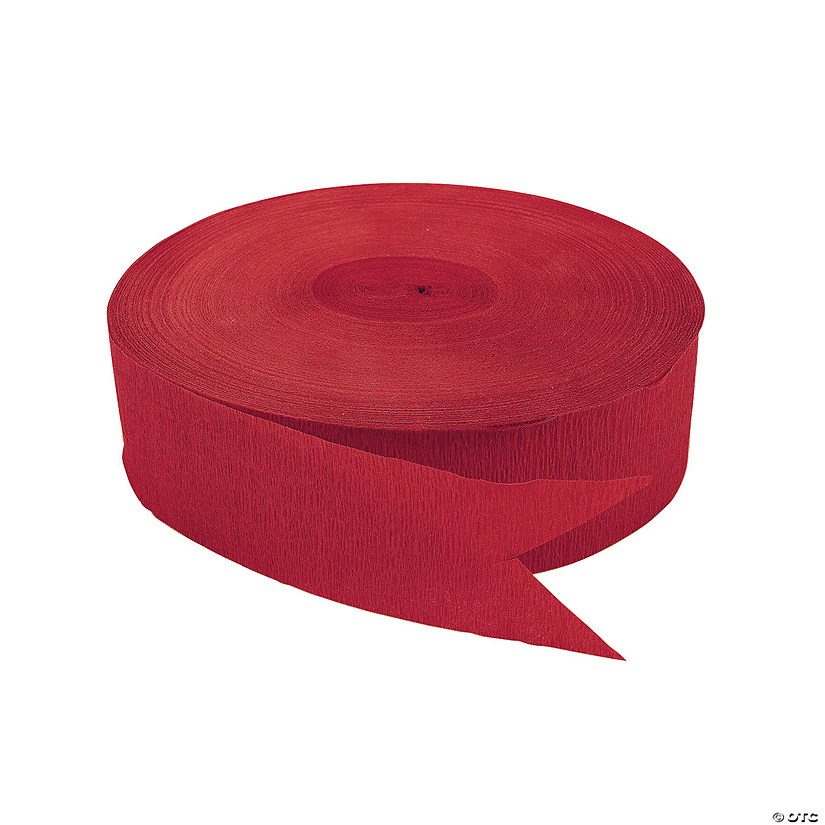 Red Jumbo Paper Streamers Audio Thumbnail