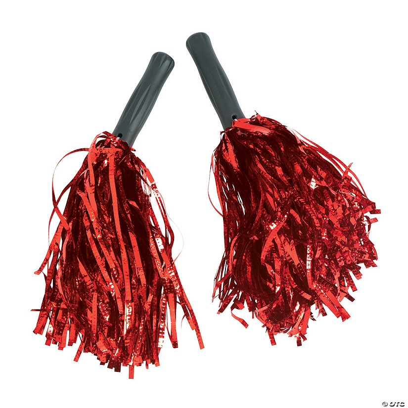 Red Metallic Pom-Poms - 12 Pc. Audio Thumbnail