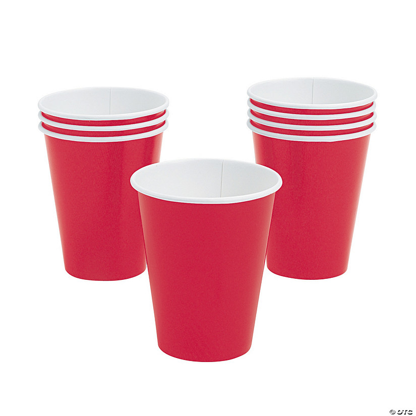 Red Paper Cups - 24 Ct. Image Thumbnail
