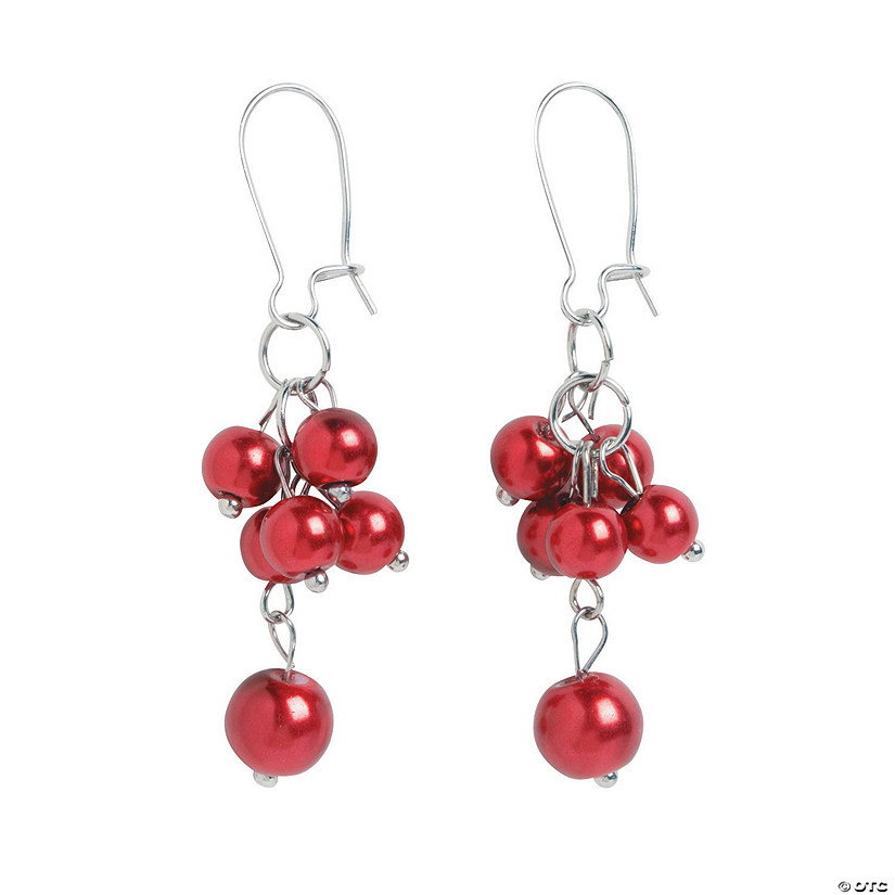Red Pearl Earrings Craft Kit