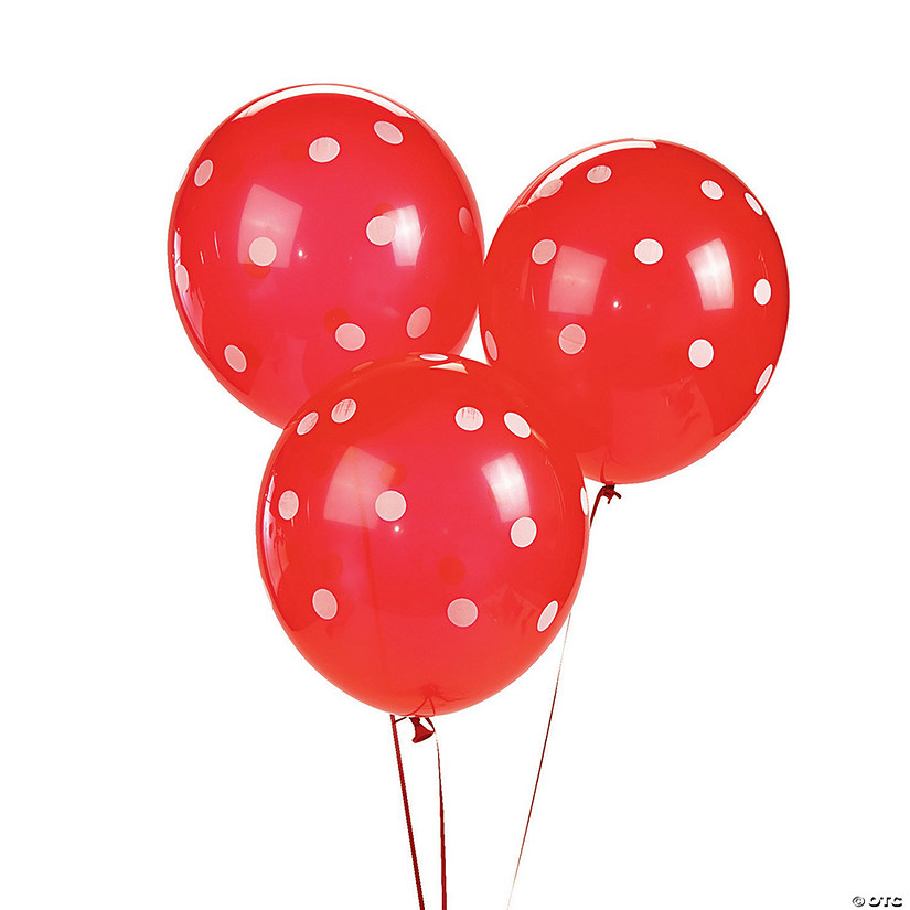 "Red Polka Dot 11"" Latex Balloons Audio Thumbnail"