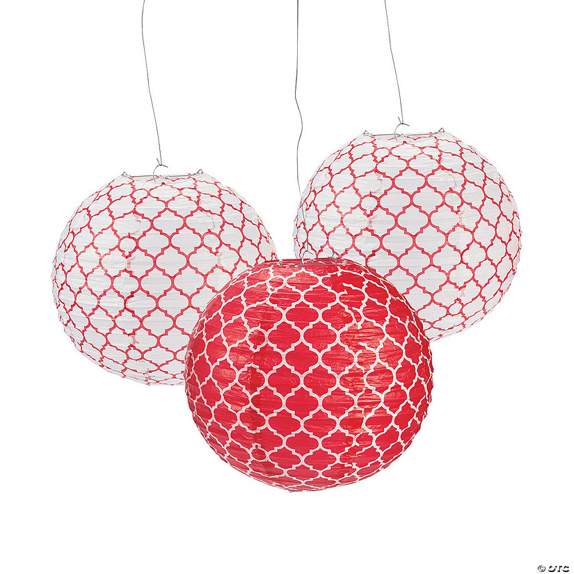 Red Quatrefoil Hanging Paper Lanterns Audio Thumbnail