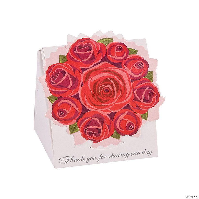 Red Rose Favor Boxes