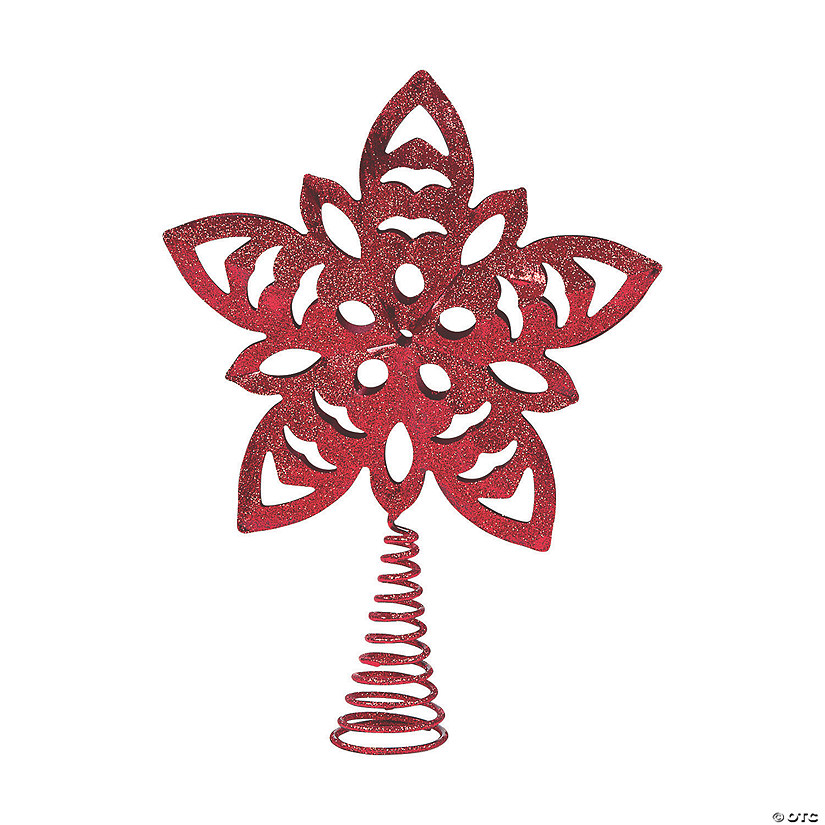 Red Snowflake Tree Topper Image Thumbnail