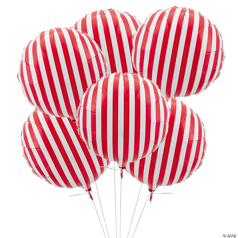 "Red Striped 18"" Mylar Balloons Audio Thumbnail"