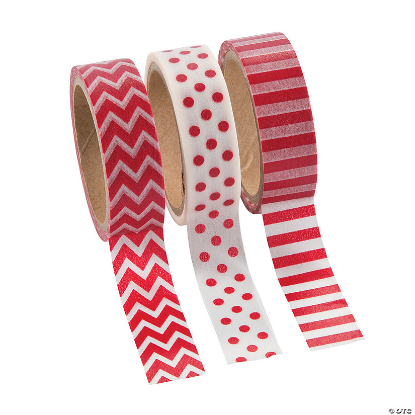 Red Washi Tape Set Image Thumbnail