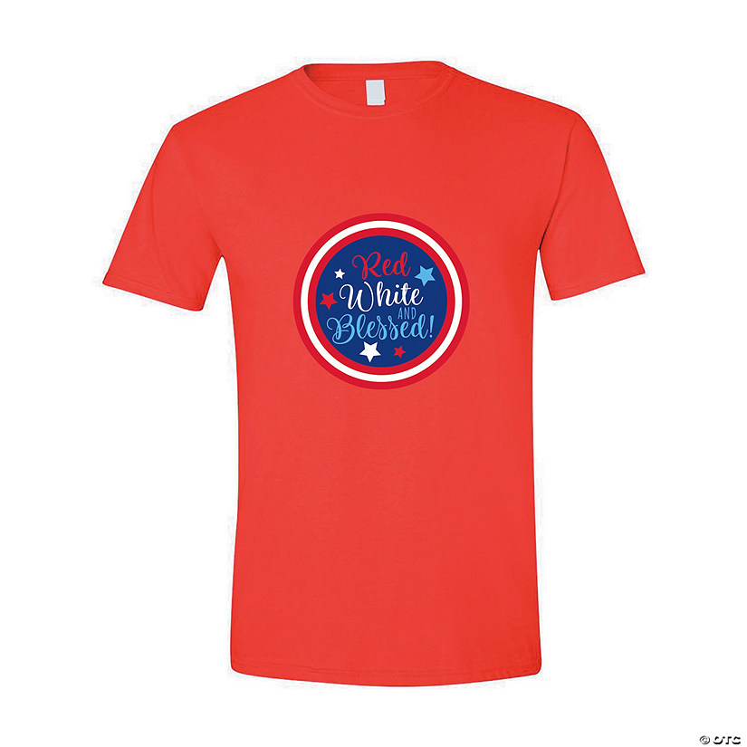 Red White & Blessed Adult's T-Shirt Audio Thumbnail