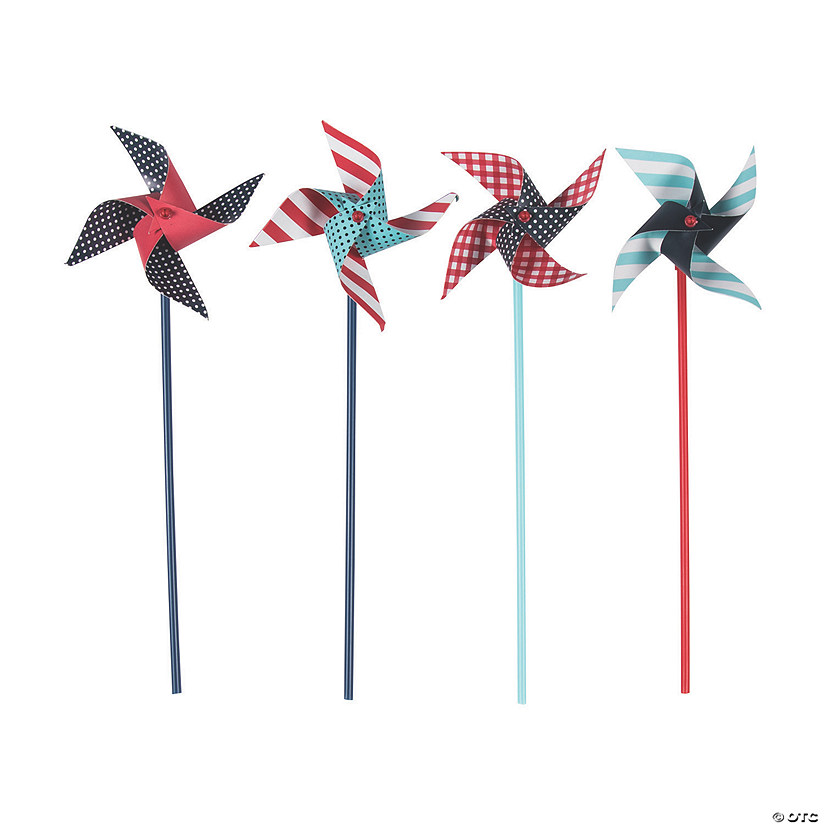 Red, White & Blue Pinwheels - 36 Pc.