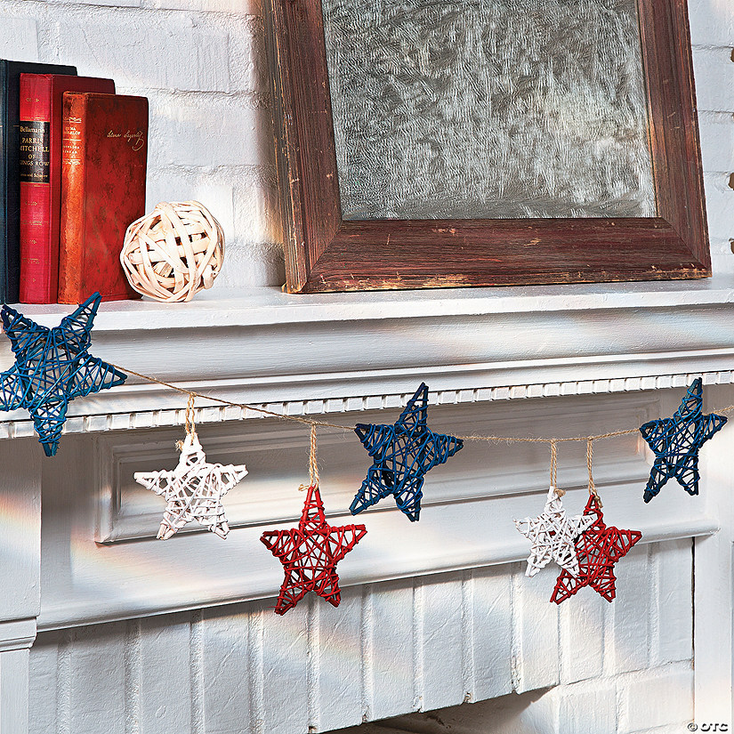Red, White & Blue Star Garland - Discontinued
