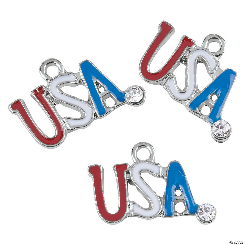 Red, White & Blue USA Charms