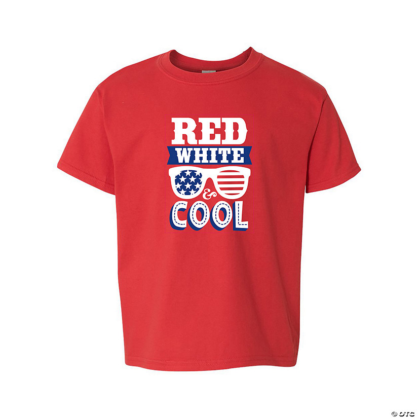 Red, White & Cool Youth T-Shirt with Lei & Sunglasses Image Thumbnail