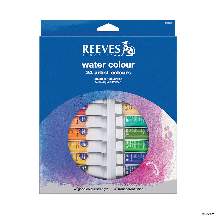 Reeves Assorted Colors Watercolor Paint - Set of 24