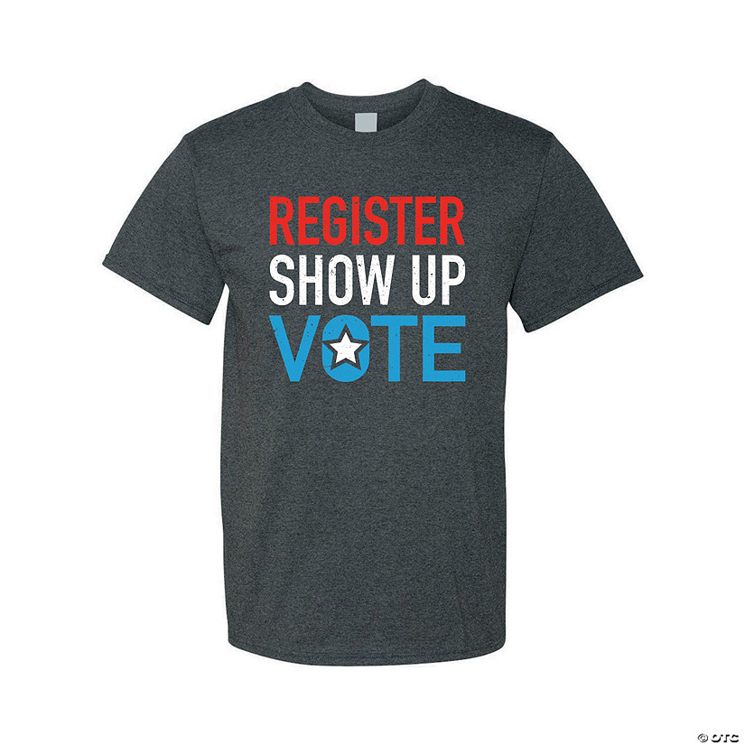 Register & Vote Adult's T-Shirt Image Thumbnail