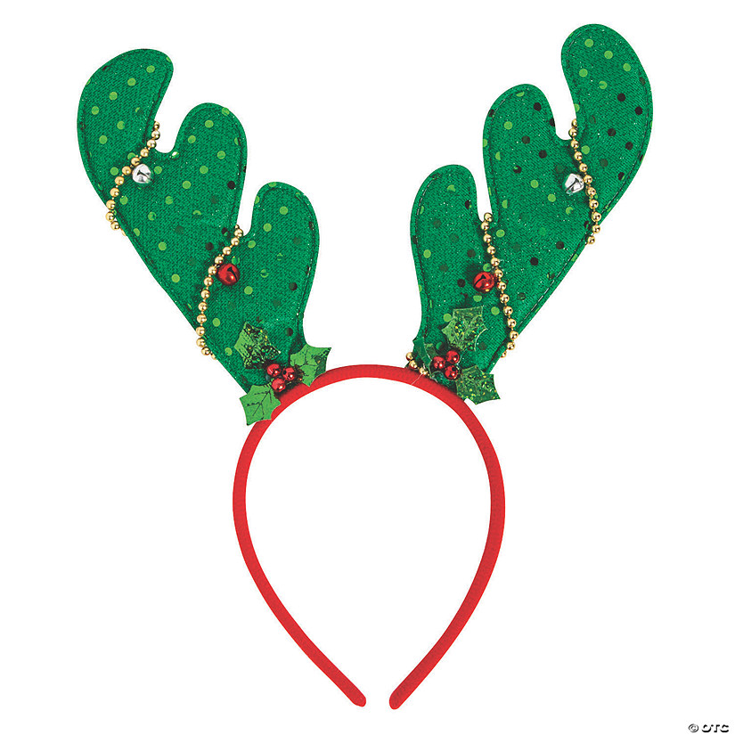 Reindeer Antlers with Faux Lights Headbands Image Thumbnail