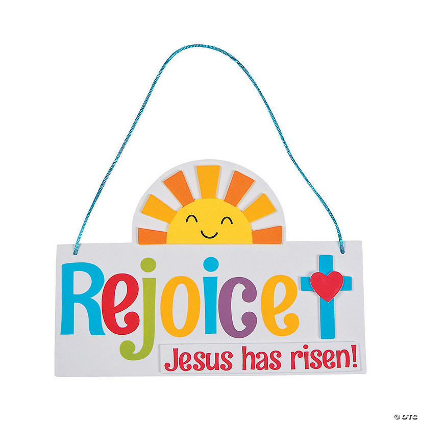 Rejoice! Jesus Has Risen Sign Craft Kit Image Thumbnail