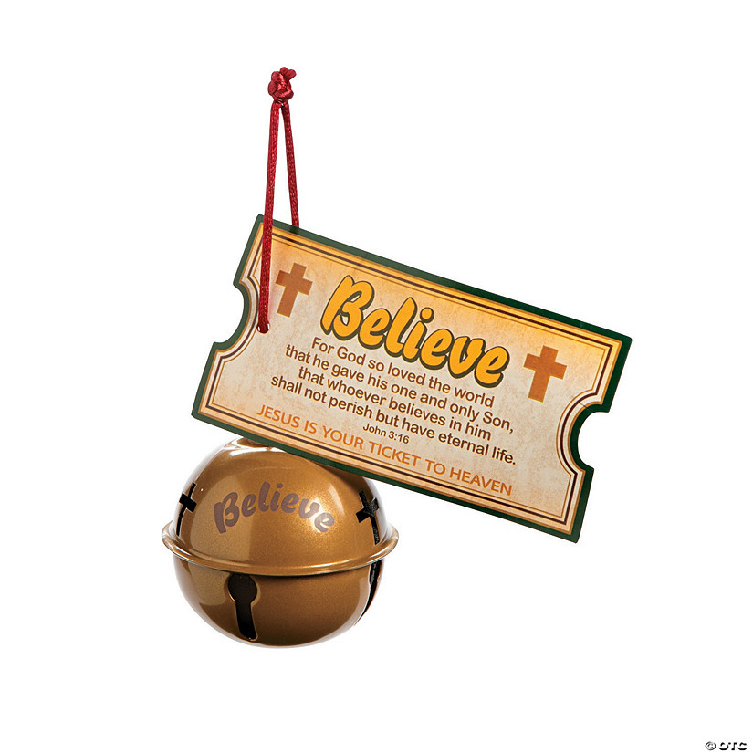 Religious Believe Christmas Bell Ornaments with Card Image Thumbnail