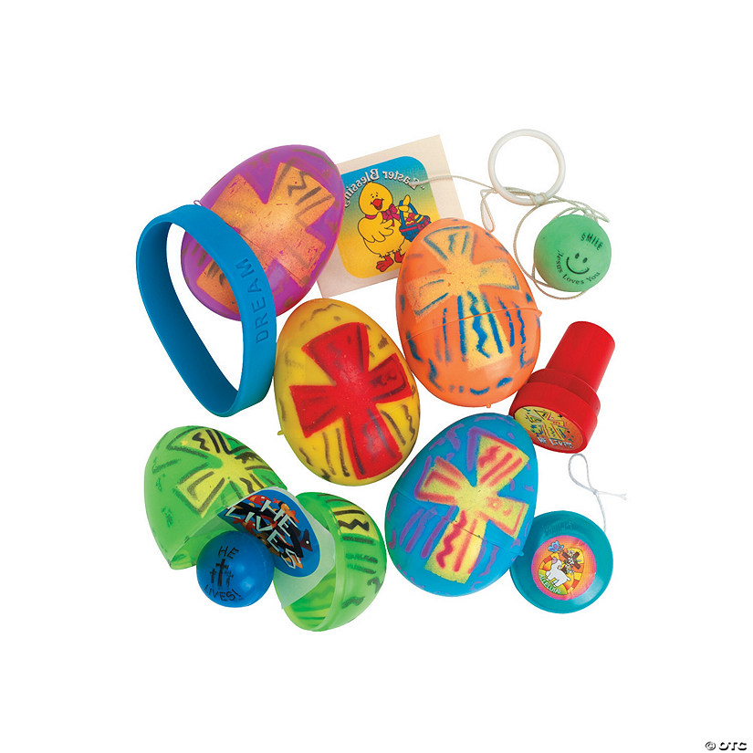 Religious Bright Toy-Filled Plastic Easter Eggs - 24 Pc. Audio Thumbnail