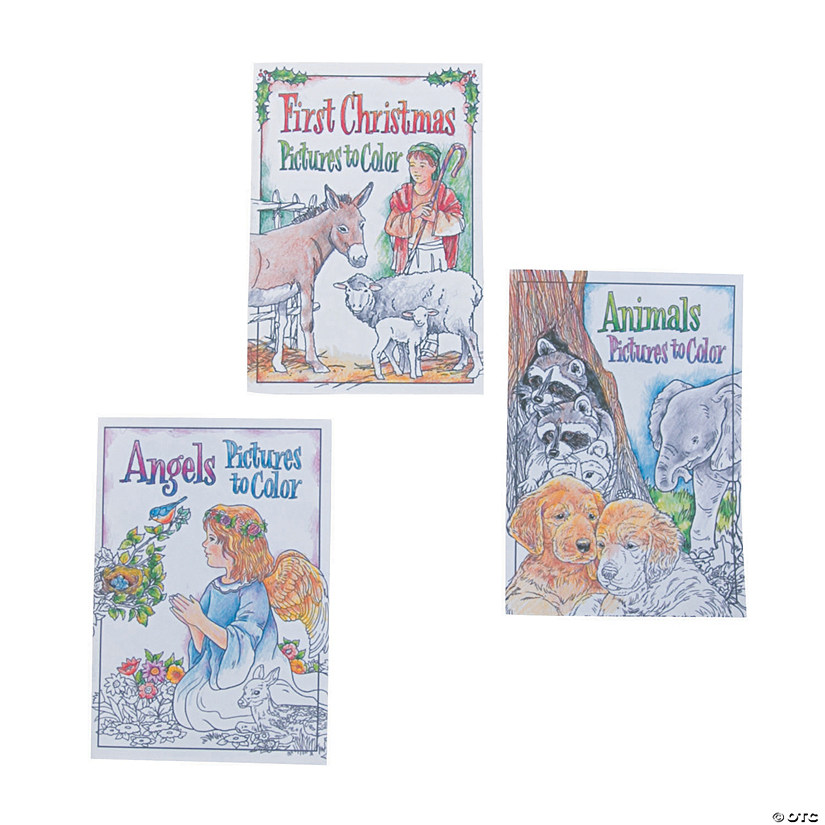 Religious Christmas Mini Coloring Books - Discontinued