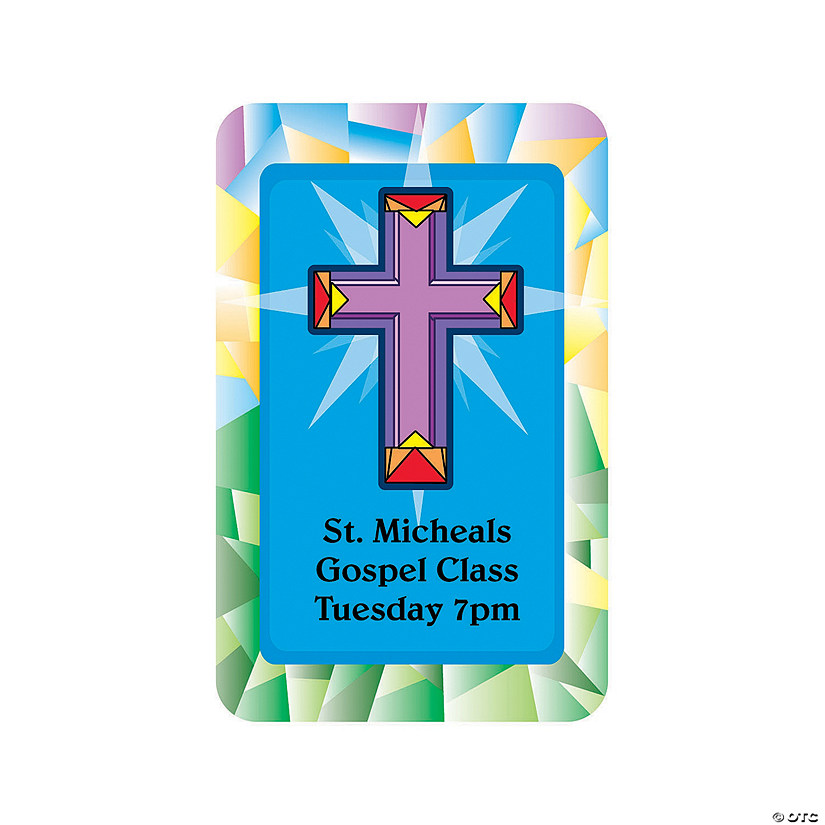 Religious Cross Notepad Sticker Audio Thumbnail
